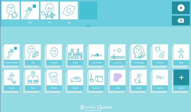swiftkey symbols, esempio di composizione con il set di default