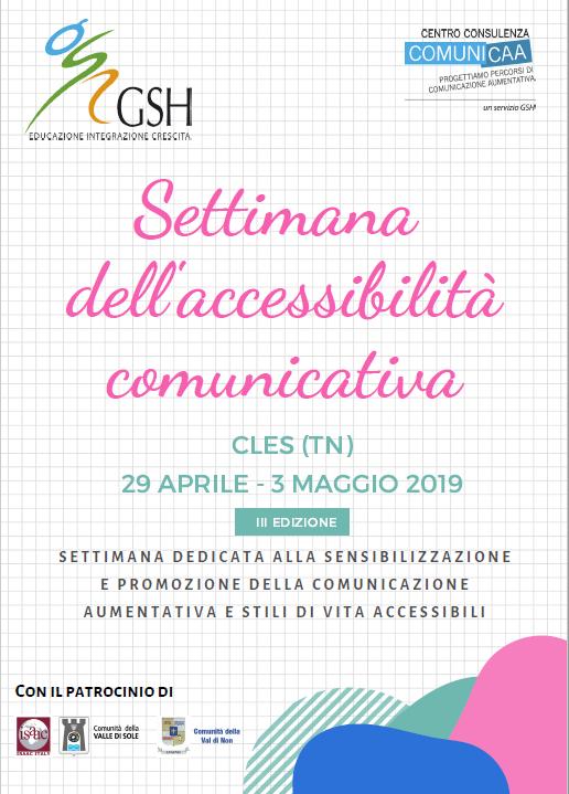 Settimana dell'accessibilità comunicativa di Cles